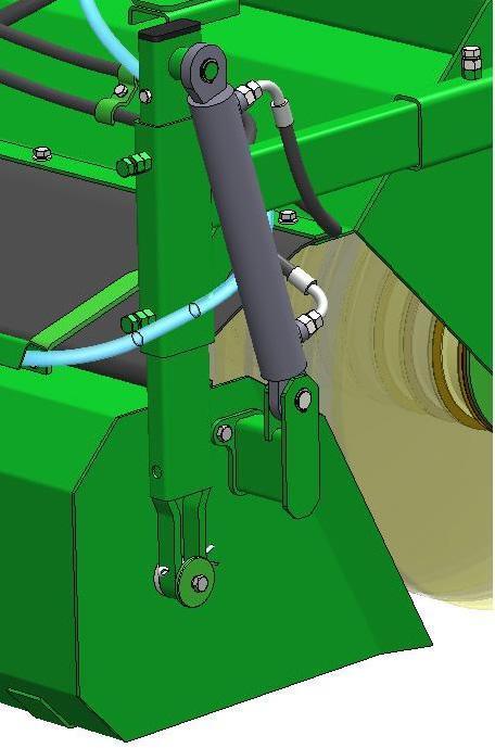 wysyp hydrauliczny zamiatarka ciągnikowa