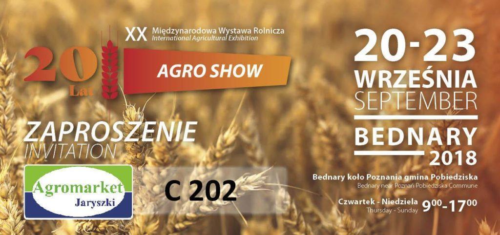 zaproszenie na targi agro show 2018